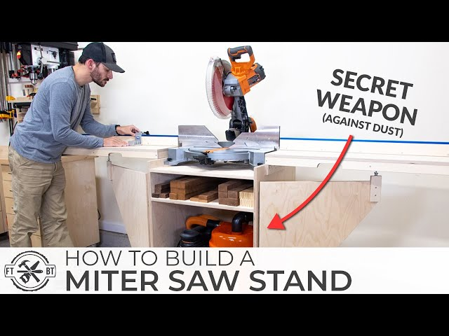 ULTIMATE DIY Miter Saw Stand | How to Build