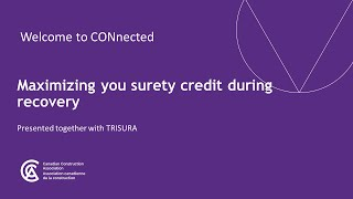 Navigating COVID-19: Maximizing your surety credit during recovery