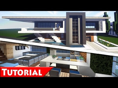 Minecraft: Modern House Interior Design Tutorial / How To Make / Part 2 /  1.8