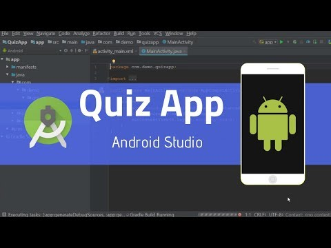 02  How to edit contents and quiz in Android Studio