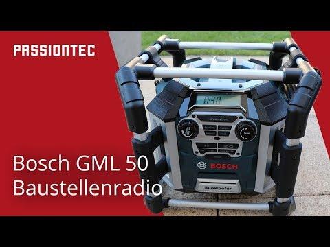 Bosch GML 50 Baustellenradio deutsch