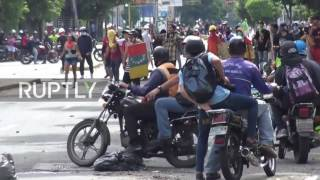 Venezuela: Clashes continue in Caracas on second day of opposition-called national strike