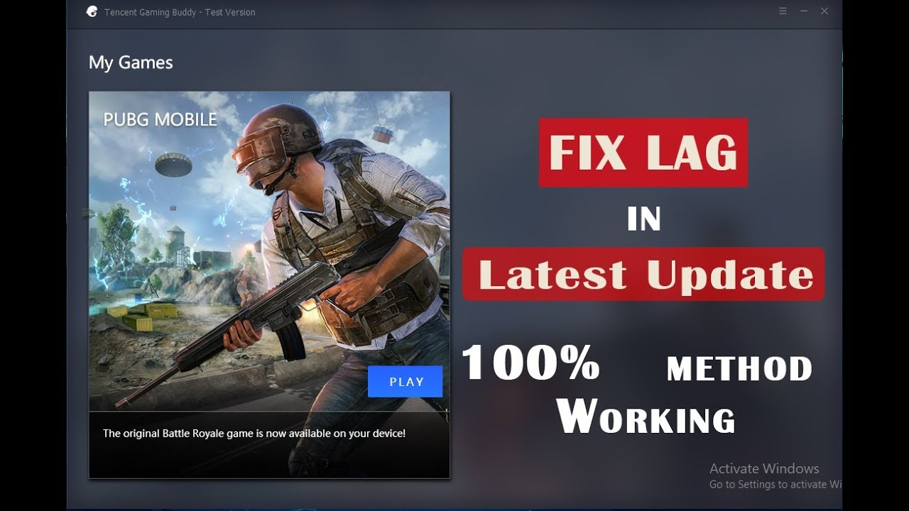 Fix Lag in Tencent Gaming Buddy for Low End PC (New Update) - YouTube
