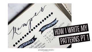 HOW I WRITE MY NEWBORN KNITTING PATTERNS   PT 1   EASY BEGINNER KNITTING PATTERN WRITING TUTORIAL
