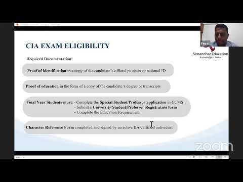 CIA Course |CIA Exam | Institute of Internal auditors | IIA| Certified ...