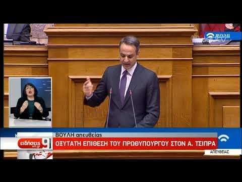 Βουλή-Κ. Μητσοτάκης: Μείωση ΕΝΦΙΑ 8% και Εισφοράς Αλληλεγγύης | 18/12/2019 | ΕΡΤ
