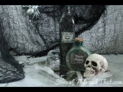 DIY Halloween Decorations! DIY Potion Bottles 3 Different Styles