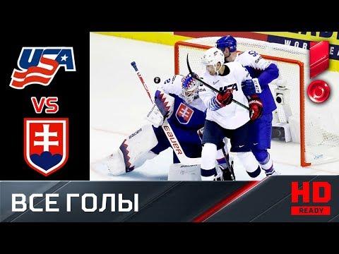 10.05.2019 США - Словакия - 1:4. Все голы. ЧМ-2019