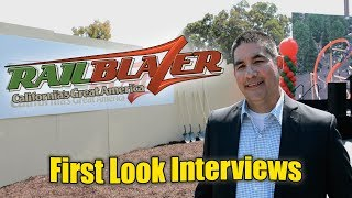 RailBlazer RMC Raptor First-Look Interviews - California's Great America 2018