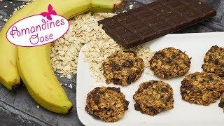 Haferflocken-Bananen-Kekse | Gesunde 2-Zutaten Kekse & viele Varianten | vegan & super einfach