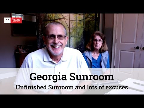 Unfinished Sunroom and lots of excuses - Georgia Sunroom