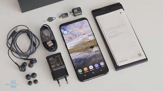 فتح صندوق هاتف Unboxing Galaxy Note 7 (اللون الاسود) *_*! - Самые