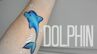 Quick Dolphin Design : Face Painting