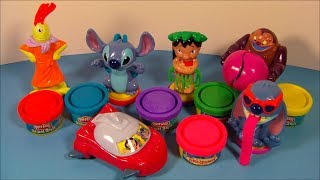 2004 DISNEYS LILO And STITCH PLAY-DOH SET OF 6 McDONALDS HAPPY MEAL TOYS VIDEO REVIEW