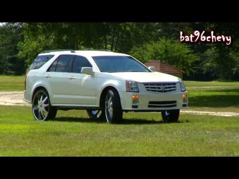 "Pearl White Cadillac SRX Truck on 28"" Starr Wheels Pt.2 - 1080p HD"
