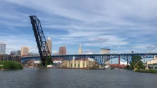 What it's like to cruise on the Cuyahoga River on a BrewBoat pedal party boat