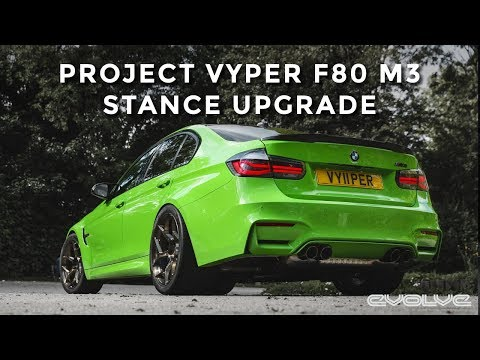 Project F80 M3 : 6Sixty Lightweight Forged Wheels + Intrax Springs