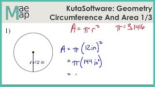 KutaSoftware: Geometry- Circumference And Area Of Circles Part 1