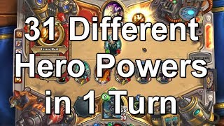 [WR] 31 Different Hero Powers in 1 Turn - Hearthstone HD