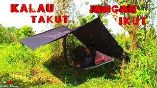 BUSHCRAFT INDONESIA - CAMPING INDONESIA - SOLO FISHING CAMP OVERNIGHT - NAJUR IKAN GABUS