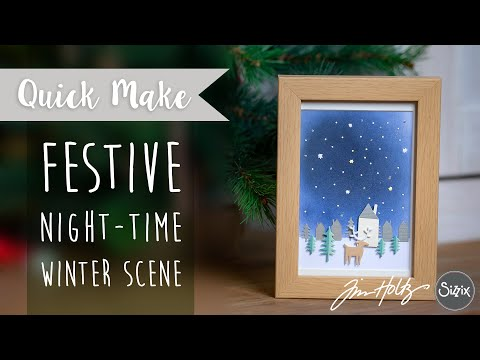 Festive Night-time Winter Scene - Sizzix