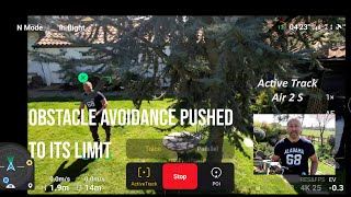 Mavic Air 2S: Active Track 4.0 Obstacle Avoidance Test
