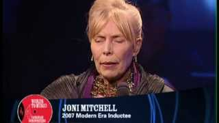 Joni Mitchell is inducted into the Canadian Songwriters Hall of Fame (CSHF)