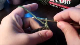 Tutorial-How to Crochet Army/Camo Double Crochet beanie.