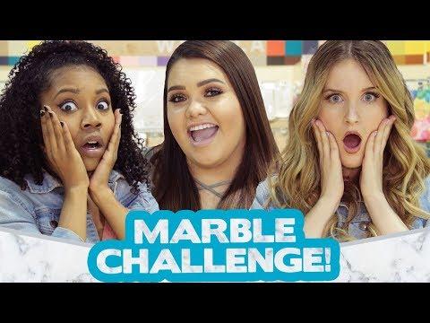 DIY MARBLE CHALLENGE?! w/ Karina Garcia, Caroline Tucker & Arianna Jonae