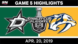 NHL Highlights | Stars vs. Predators, Game 5 – April 20, 2019