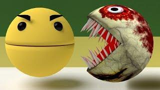 Pacman Vs Zombie Pacman [The Fight]