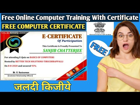 Basic Computer Free Online Certificate 2020 - YouTube