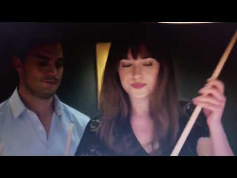 Fifty Shades Darker - A friendly wager at pool (Complete hot scene) 2017