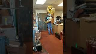 Vintage Olds Fullerton Sousaphone Playtest