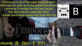 Conor Maynard   Waste Your Time Guitar Cover (with Lyrics & Chords) Tutorial
