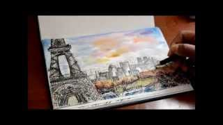 preview picture of video 'Travel Sketching -Paris'