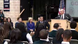 New Jersey Governor-elect Chris Christie makes first appearance in Newark