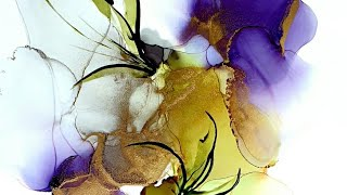 Alcohol Ink Fluid Art Tutorial / Acrylic Paint / Catalyst Wedge / Abstract Painting ( 110 )
