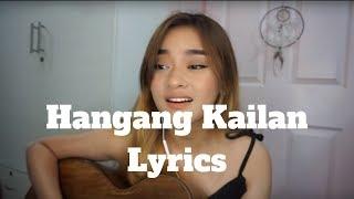 Raphiel Shannon - Hangang Kailan lyrics