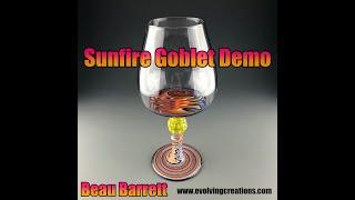 Sunfire Goblet Boro Lampwork, Flamework, Glassblowing Demo