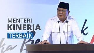 Jadi Menteri Kinerja Terbaik Menurut Survei, Prabowo Unggul dari Erick Thohir hingga Nadiem Makariem