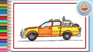 Поделки - рисуем Пикап - Машинки для детей