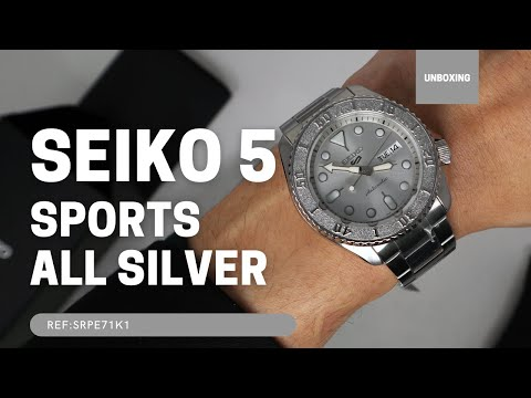 SEIKO 5 SPORTS AUTOMATIC WATCH IN SILVER SRPE71K1