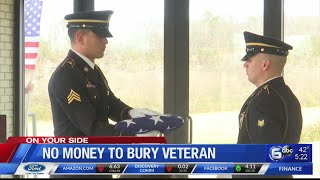 No money to bury veteran