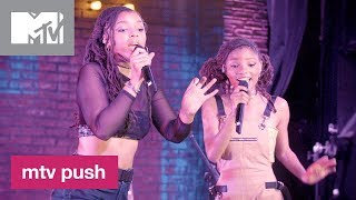 Chloe X Halle Perform 'happy Without Me Live Performance Mtv Push