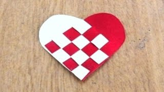Woven Paper Heart Tutorial ~ Valentine Special ~ DIY ~ How To Make / Instructions .....
