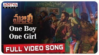 One Boy One Girl Full Video Song || MAJILI Songs || Naga Chaitanya, Samantha, Divyansha Kaushik