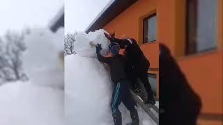 Velik snežak na Kamenščaku