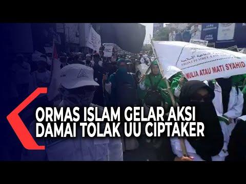 ormas islam di lampung gelar aksi damai tolak uu cipta kerja