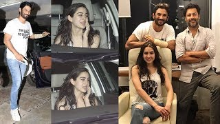 Sushant Singh Rajput And Sara Ali Khan At Abhishek Kapoor's Office | Kedarnath Movie 2018